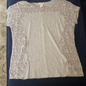 Sundance gray shirt sleeve top